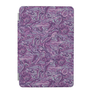 Abstract colorful hand drawn curly pattern design iPad mini cover