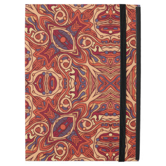 """Abstract colorful hand drawn curly pattern design iPad pro 12.9"""" case"""