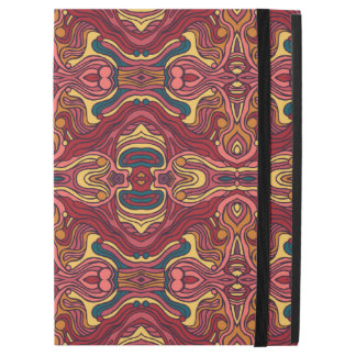 "Abstract colorful hand drawn curly pattern design iPad pro 12.9"" case"