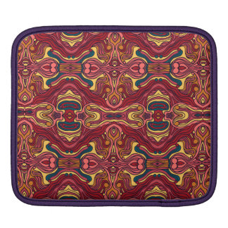Abstract colorful hand drawn curly pattern design iPad sleeve