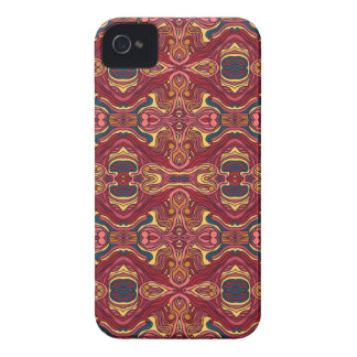 Abstract colorful hand drawn curly pattern design iPhone 4 covers