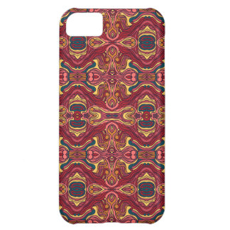 Abstract colorful hand drawn curly pattern design iPhone 5C case