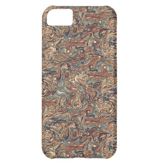 Abstract colorful hand drawn curly pattern design iPhone 5C cover