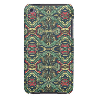 Abstract colorful hand drawn curly pattern design iPod Case-Mate case