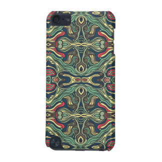 Abstract colorful hand drawn curly pattern design iPod touch 5G case