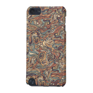 Abstract colorful hand drawn curly pattern design iPod touch 5G cover