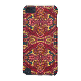 Abstract colorful hand drawn curly pattern design iPod touch (5th generation) case