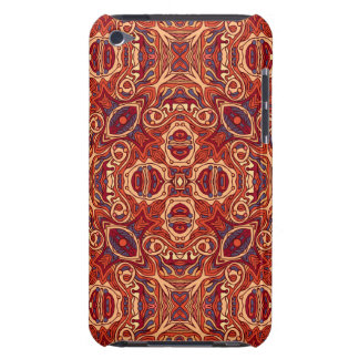 Abstract colorful hand drawn curly pattern design iPod touch case