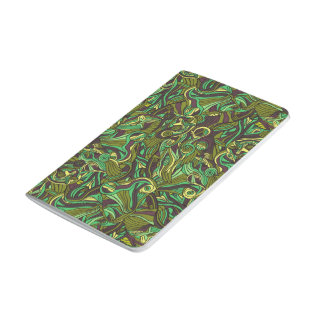 Abstract colorful hand drawn curly pattern design journal