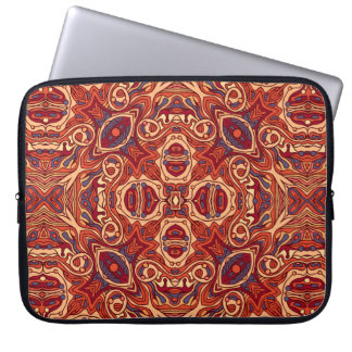 Abstract colorful hand drawn curly pattern design laptop sleeve