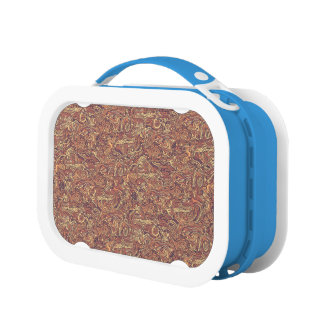 Abstract colorful hand drawn curly pattern design lunchboxes
