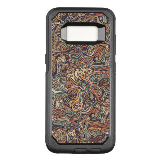 Abstract colorful hand drawn curly pattern design OtterBox commuter samsung galaxy s8 case
