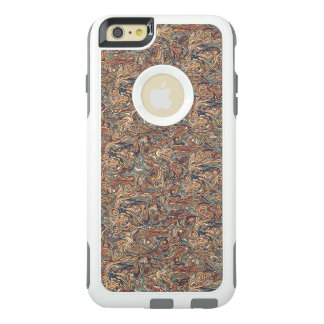 Abstract colorful hand drawn curly pattern design OtterBox iPhone 6/6s plus case