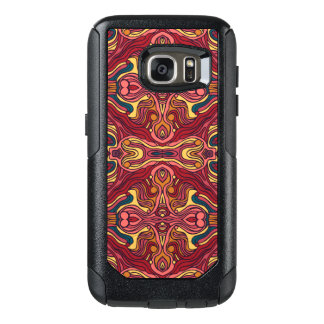 Abstract colorful hand drawn curly pattern design OtterBox samsung galaxy s7 case