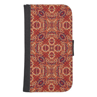 Abstract colorful hand drawn curly pattern design samsung s4 wallet case