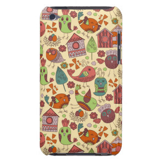 Abstract colorful hand drawn floral pattern design barely there iPod cover