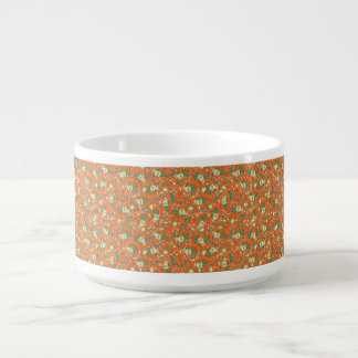 Abstract colorful hand drawn floral pattern design chili bowl