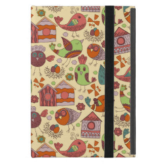 Abstract colorful hand drawn floral pattern design cover for iPad mini