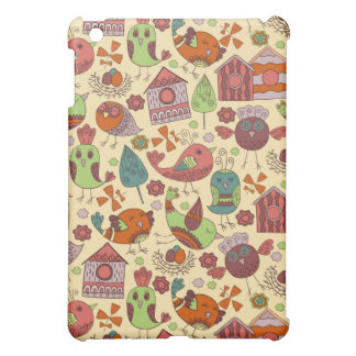 Abstract colorful hand drawn floral pattern design cover for the iPad mini