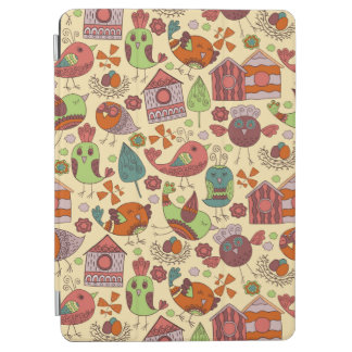 Abstract colorful hand drawn floral pattern design iPad air cover