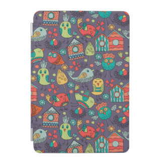 Abstract colorful hand drawn floral pattern design iPad mini cover