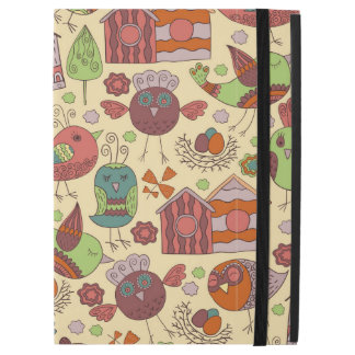 "Abstract colorful hand drawn floral pattern design iPad pro 12.9"" case"