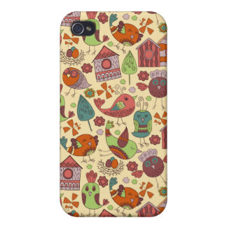 Abstract colorful hand drawn floral pattern design iPhone 4/4S cases