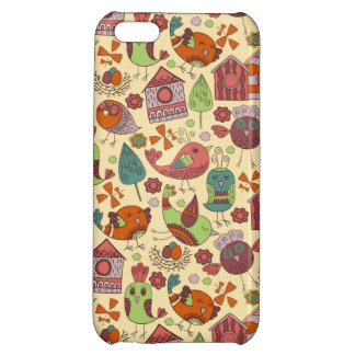 Abstract colorful hand drawn floral pattern design iPhone 5C cases