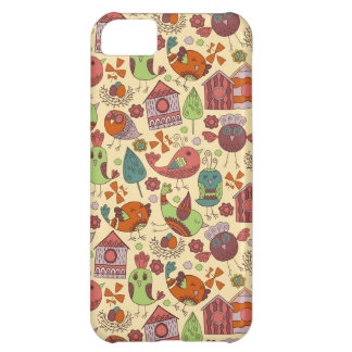 Abstract colorful hand drawn floral pattern design iPhone 5C cover