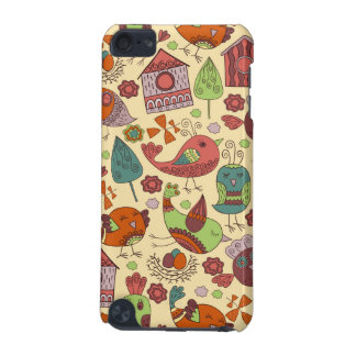 Abstract colorful hand drawn floral pattern design iPod touch 5G cases