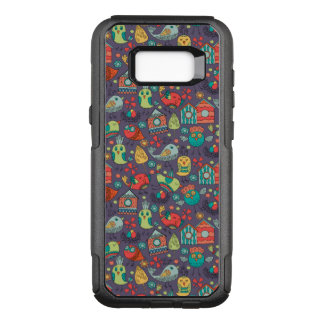 Abstract colorful hand drawn floral pattern design OtterBox commuter samsung galaxy s8+ case