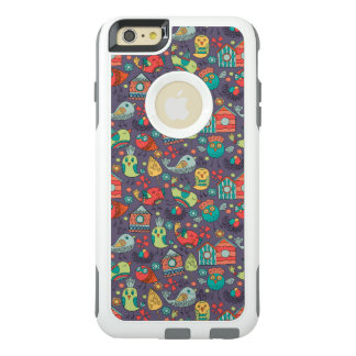 Abstract colorful hand drawn floral pattern design OtterBox iPhone 6/6s plus case