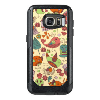 Abstract colorful hand drawn floral pattern design OtterBox samsung galaxy s7 case