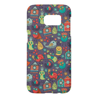 Abstract colorful hand drawn floral pattern design samsung galaxy s7 case