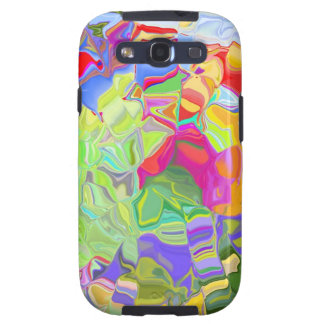 Abstract Colorful Ice Cubes Galaxy S 3 Case Galaxy SIII Cases