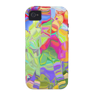 Abstract Colorful Ice Cubes iPhone 4 Case
