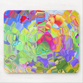 Abstract Colorful Ice Cubes Mousepad