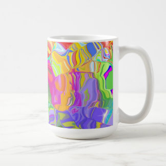 Abstract Colorful Ice Cubes Mug