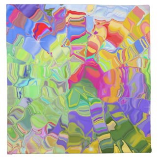 Abstract Colorful Ice Cubes Napkins