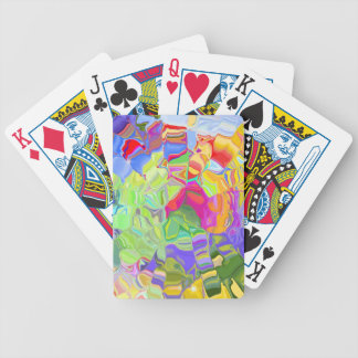 Abstract Colorful Ice Cubes Playing Cards