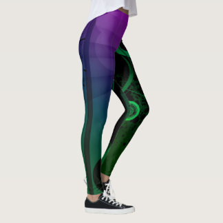 Abstract Colorful Leggings Unique