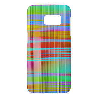 Abstract Colorful Line Pattern Samsung Galaxy S7 Case