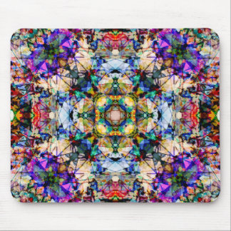 Abstract Colorful Lines Mouse Pad
