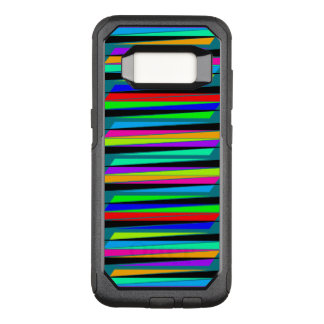 Abstract colorful lines OtterBox commuter samsung galaxy s8 case