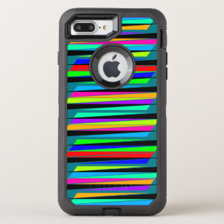 Abstract colorful lines OtterBox defender iPhone 7 plus case