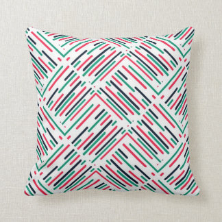 Abstract Colorful Lines Pattern Throw Pillow