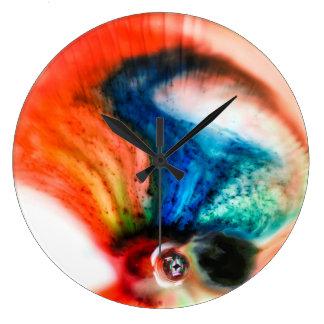 Abstract Colorful Liquid Macro Clock