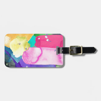 ABSTRACT COLORFUL LUGGAGE TAG