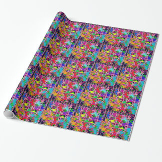Abstract Colorful made of Alphabet soup kids love Wrapping Paper