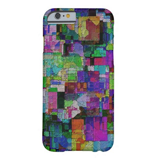 Abstract colorful paint blocks. iPhone 6 case